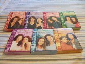 7 seasons of Gilmore girls, christmas cd's & vhs's