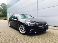 2012 12 reg BMW 525d M Sport BLACK + BLACK LEATHER + SAT NAV