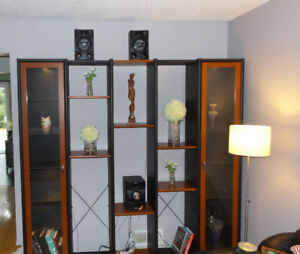 Shelving Unit with Lit Display Cases - Ikea