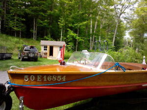 Lakecraft  16 foot Cedar Strip Runabout with Trailer