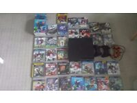 PS3 CONSOLE SLIM 250 GB BUNDLE + 40 GAMES AND STATION MOVE+ 3 CONTROLLERS