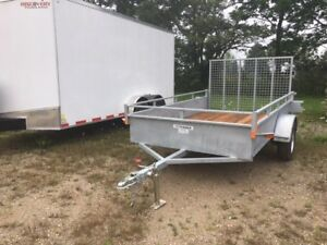6x10 Heavy Duty Open Galvanized trailer