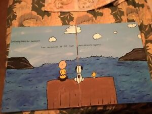Paint on the wall creations! PEANUTS!