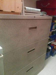 Metal 3 drawer file cabinet for office