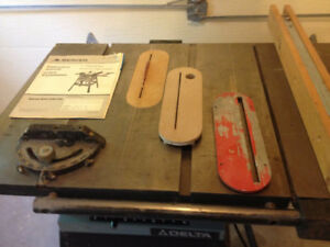 Banc de scie, attache mortaiseuse degauchisseuse / Table saw-neg