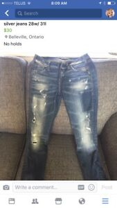 Guess and silver jeans