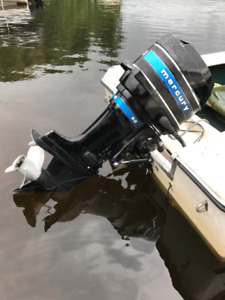 80 HP MERCURY OUTBOARD MOTOR WITH BOAT & TRAILER