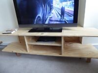 TV unit in pine, made as a model for the real thing.