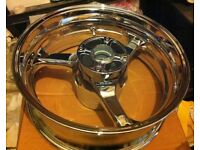 Front and Rear Chrome wheels for a Honda CBR 1000