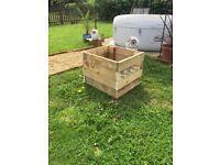 Homemade wooden planter box
