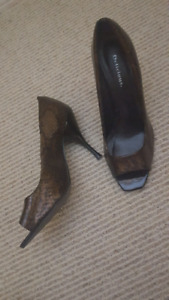 Onyx peep-toe shoes, US8-8.5 (almost new!)
