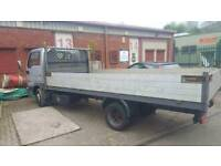 Flat bed body with alloy drop sides in mint condition nissan cabstar