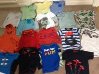 Bundle of tops,shorts,joggers and a pair of Clark shoes