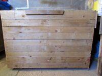 Extra Large Wooden Garage Tool box, storage box, Blanket box, handmade, building tools storage