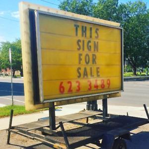 ILLUMINATED FLASHING SIGN FOR SALE