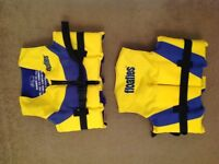 X2 Kids Floaties Swimming Life Jackets/ Vests, with floats and arm bands - £20