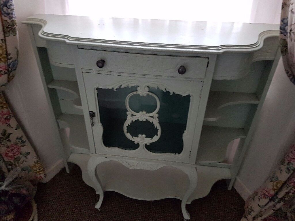 Beautiful ornate wooden display cabinet