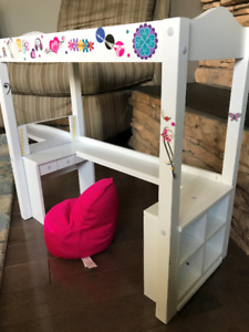 Doll Loft Bed and Beanbag Chair
