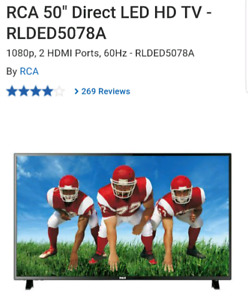"RCA 50"" Direct LED HD TV"