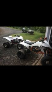 Two Yamaha Yfz 450s for sale or trade text 9022225775