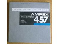 """Ampex Grand Master 457 (7"""") Reel To Reel Audio Tapes (used)"""
