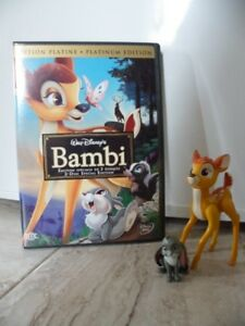 Dvd Walt Disney BAMBI et 2 figurines du film
