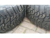 "GENUINE 19"" LANDROVER DISCOVERY ALLOY WHEELS GOODYEAR WRANGLER ALL TERRAIN TYRES"