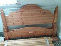 King size pine bed frame