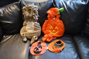 3-Piece Lion and Pumpkin Halloween Costumes