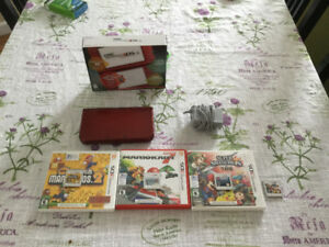 NEW 3DS XL RED WITH 4 GAMES AND A CHARGER!!!!