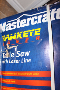 "Mastercraft 10""-13A Hawkeye Laser table Saw"