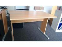 Office desk birch effect