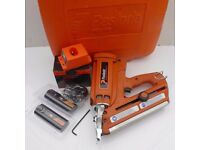 PASLODE IM350 FIRST FIX NAIL GUN- SILVER PROBE, CASE+ACCESSORIES