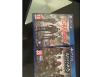 tom clancy's the divisionand assassins creed syndicate ps4 game brand new still in wrapper