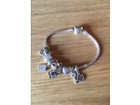 Pandora Charm Bracelet + 8 Charms