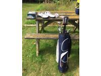 Adult golf starter kit, Nike shoes, Taylor made , Dunlop titleist