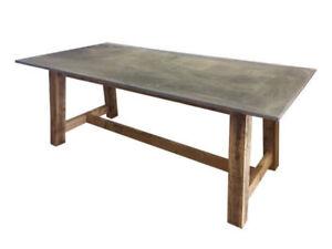 █ █ █ Table à dîner extérieure patio dinning wood slate █ █ █