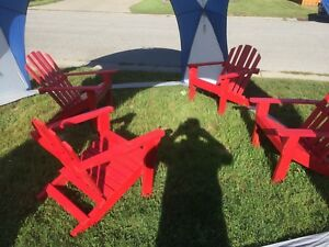 Muskoka Style Chairs - Red only 2 left
