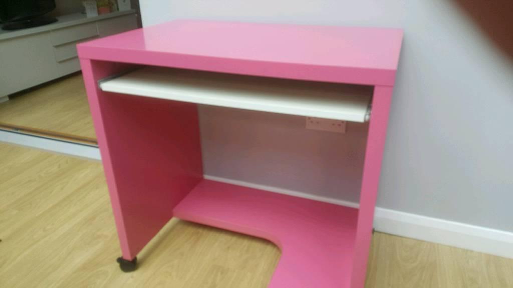 Pink Ikea Desk