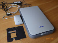 Epson Flat Bed Scanner with slide conversion accessories