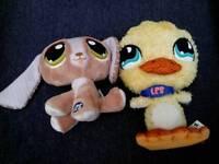 2 x Littlest Pet shop soft toys - £3
