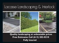 Landscaping interlock repair competitive pricing