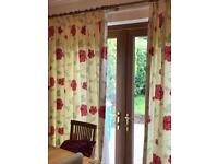 Designer curtains with matching accessories
