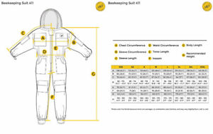 Humble Bee 411-S Polycotton Beekeeping Suit with Fencing Veil