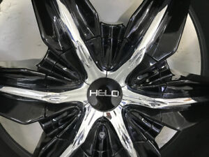 "HELO 24"" rims and tires X4"