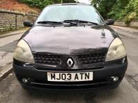 2003 Renault Clio 1.2 Low Miles 5 Door Black