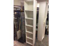 Bookcase - White - 6 Shelves