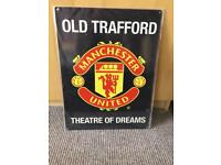 Manchester United wall hanging.