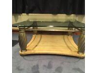 Italian Style glass coffee table very heavy