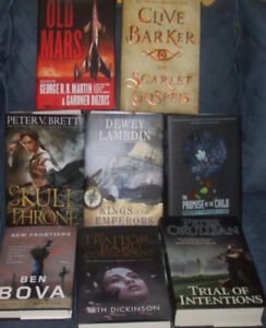 FANTASY, HORROR, SCI-FI ALL HARD COVERS ONLY $5 EACH